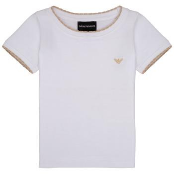 Odjeća Djevojčica Majice kratkih rukava Emporio Armani Allan Bijela