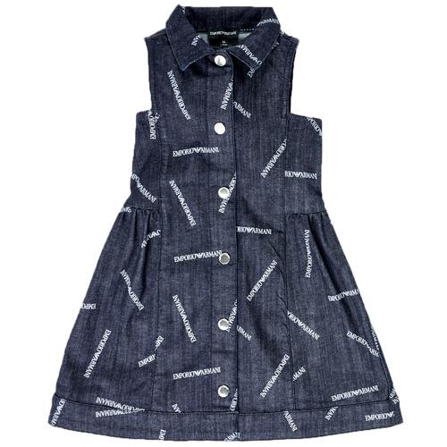 Odjeća Djevojčica Kratke haljine Emporio Armani Andy Blue