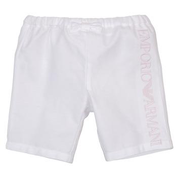 Odjeća Djevojčica Bermude i kratke hlače Emporio Armani Aniss Bijela