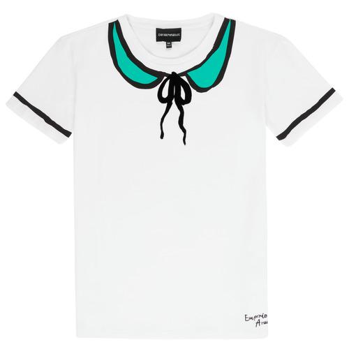 Odjeća Djevojčica Majice kratkih rukava Emporio Armani Anthonin Bijela