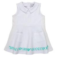 Odjeća Djevojčica Kratke haljine Emporio Armani Apollinaire Bijela