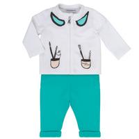 Odjeća Djevojčica Dječji kompleti Emporio Armani Aubin Bijela / Blue