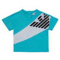 Odjeća Dječak  Majice kratkih rukava Emporio Armani Alois Blue / Bijela