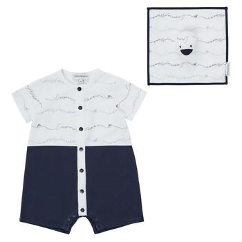 Odjeća Dječak  Kombinezoni i tregerice Emporio Armani Edouard Blue