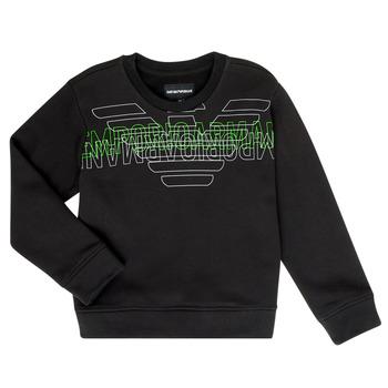 Odjeća Dječak  Sportske majice Emporio Armani Austin Crna