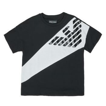 Odjeća Dječak  Majice kratkih rukava Emporio Armani Blaise Crna / Bijela