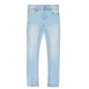 Odjeća Djevojčica Slim traperice Name it NMFPOLLY DNMCILLE Blue