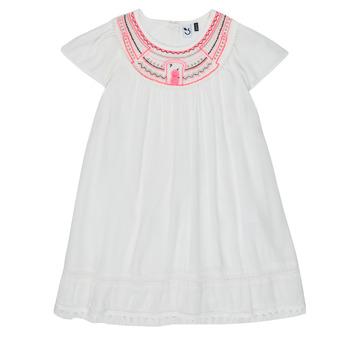 Odjeća Djevojčica Kratke haljine 3 Pommes LAURA Bijela