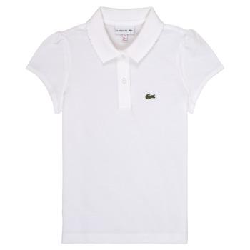 Odjeća Djevojčica Polo majice kratkih rukava Lacoste CAYDEN Bijela