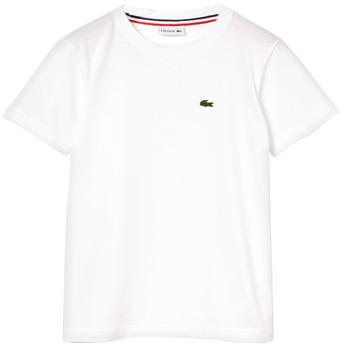 Odjeća Dječak  Majice kratkih rukava Lacoste NAE Bijela