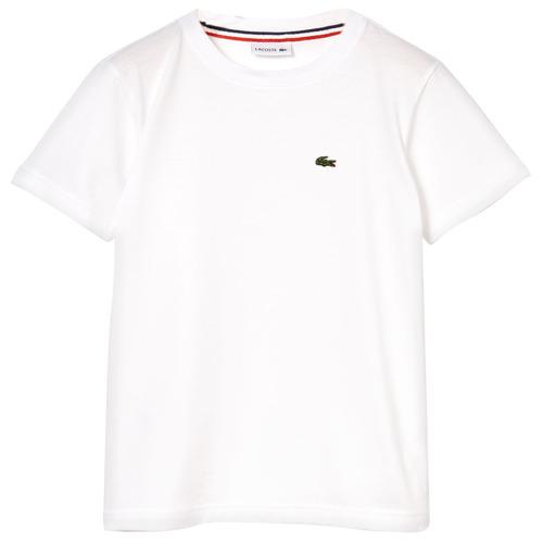 Odjeća Dječak  Majice kratkih rukava Lacoste APAULINE Bijela