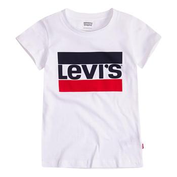 Odjeća Djevojčica Majice kratkih rukava Levi's SPORTSWEAR LOGO TEE Bijela