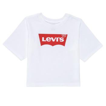 Odjeća Djevojčica Majice kratkih rukava Levi's LIGHT BRIGHT HIGH RISE TOP Bijela