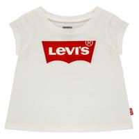 Odjeća Djevojčica Majice kratkih rukava Levi's BATWING TEE Bijela