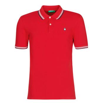 Odjeća Muškarci  Polo majice kratkih rukava Benetton GUERY Red