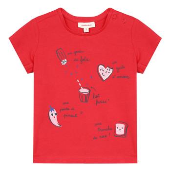 Odjeća Djevojčica Majice kratkih rukava Catimini MUSIKOU Red