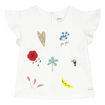 Odjeća Djevojčica Majice kratkih rukava Catimini NADEGE Bijela