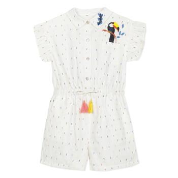 Odjeća Djevojčica Kombinezoni i tregerice Catimini LUCIUS Bijela