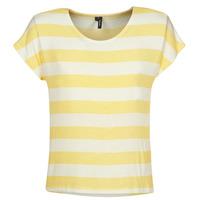 Odjeća Žene  Majice kratkih rukava Vero Moda  Žuta / Bijela
