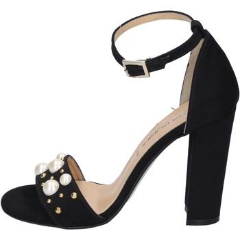 Obuća Žene  Sandale i polusandale Olga Rubini sandali camoscio sintetico borchie Nero