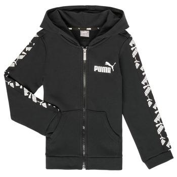 Odjeća Dječak  Sportske majice Puma AMPLI HOOD JKT Crna