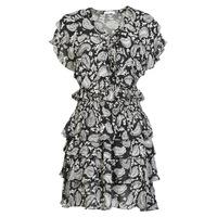 Odjeća Žene  Kratke haljine Replay  Crna / Bijela