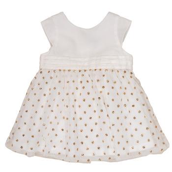 Odjeća Djevojčica Kratke haljine Petit Bateau FAVORITE Bijela / Zlatna