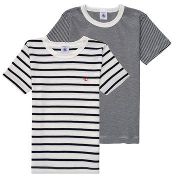 Odjeća Dječak  Majice kratkih rukava Petit Bateau 53333 Bijela / Blue