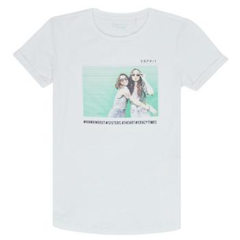 Odjeća Djevojčica Majice kratkih rukava Esprit ELISH Bijela