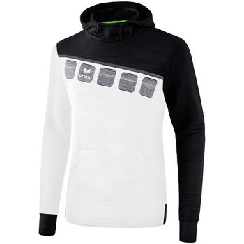 Odjeća Djeca Sportske majice Erima Sweat à capuche enfant  5-C blanc/noir/gris
