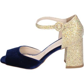 Obuća Žene  Sandale i polusandale Olga Rubini sandali velluto glitter Blu