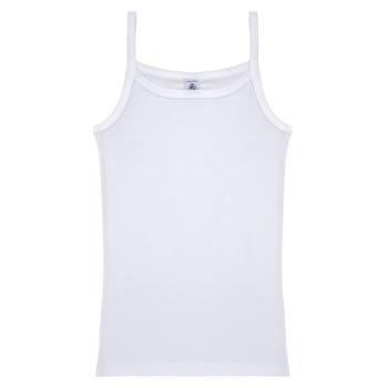 Odjeća Djevojčica Majice s naramenicama i majice bez rukava Petit Bateau 53295 Bijela