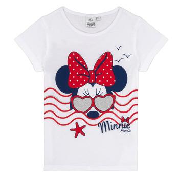 Odjeća Djevojčica Majice kratkih rukava TEAM HEROES MINNIE Bijela
