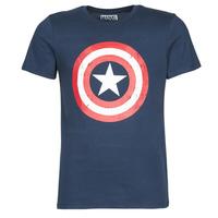 Odjeća Muškarci  Majice kratkih rukava Yurban CAPTAIN AMERICA LOGO Blue