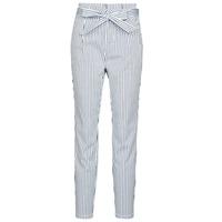 Odjeća Žene  Chino hlačei hlače mrkva kroja Vero Moda VMEVA Bijela / Siva