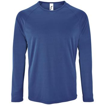 Odjeća Muškarci  Majice dugih rukava Sols SPORT LSL MEN Azul