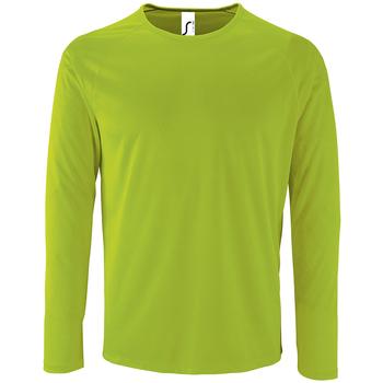 Odjeća Muškarci  Majice dugih rukava Sols SPORT LSL MEN Verde