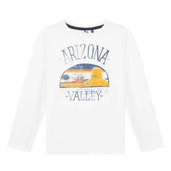 Odjeća Dječak  Majice dugih rukava 3 Pommes 3R10005-19-C Bijela