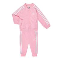 Odjeća Djevojčica Dječji kompleti adidas Originals SST TRACKSUIT Ružičasta