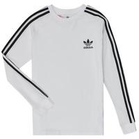 Odjeća Dječak  Majice dugih rukava adidas Originals 3STRIPES LS Bijela