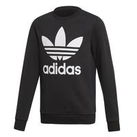 Odjeća Djeca Sportske majice adidas Originals TREFOIL CREW Crna