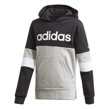 Odjeća Dječak  Sportske majice adidas Performance YB LIN CB HD FL Crna / Siva