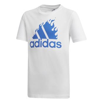 Odjeća Dječak  Majice kratkih rukava adidas Performance JB BOS GRAPH Bijela