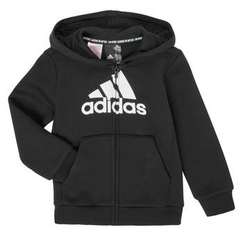 Odjeća Dječak  Sportske majice adidas Performance B MH BOS FZ FL Crna