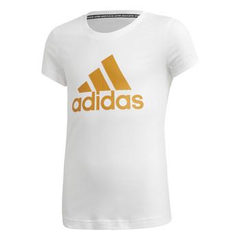 Odjeća Djevojčica Majice kratkih rukava adidas Performance YG MH BOS TEE Bijela