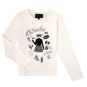 Odjeća Djevojčica Majice dugih rukava Emporio Armani 6H3T01-3J2IZ-0101 Bijela
