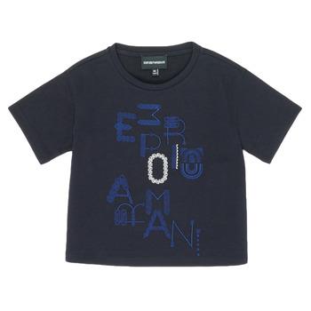 Odjeća Djevojčica Majice kratkih rukava Emporio Armani 6H3T7R-2J4CZ-0926 Blue