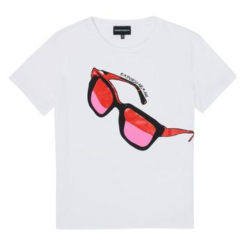 Odjeća Djevojčica Majice kratkih rukava Emporio Armani 6H3T7T-3J2IZ-0100 Bijela