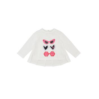 Odjeća Djevojčica Majice dugih rukava Emporio Armani 6HEM01-3J2IZ-0101 Bijela