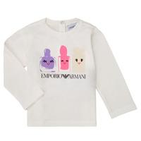 Odjeća Djevojčica Majice dugih rukava Emporio Armani 6HET02-3J2IZ-0101 Bijela